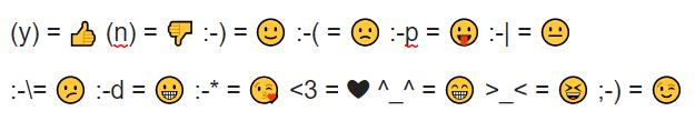 Emojis clásicos WhatsApp