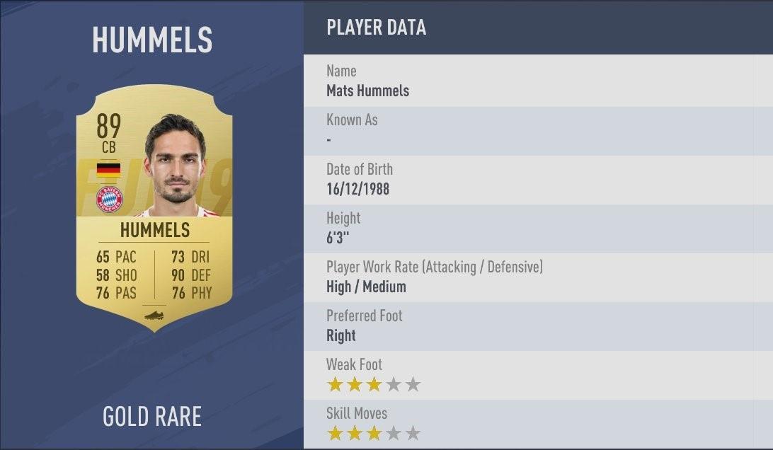 FIFA 19 - Mats Hummels