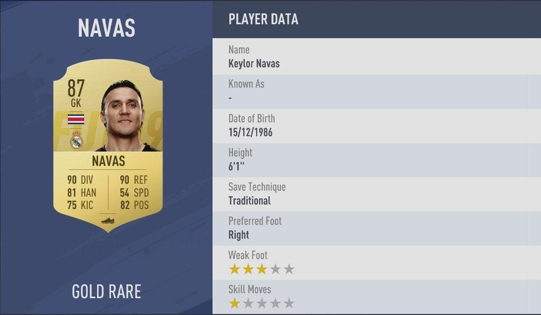 FIFA 19 - Navas