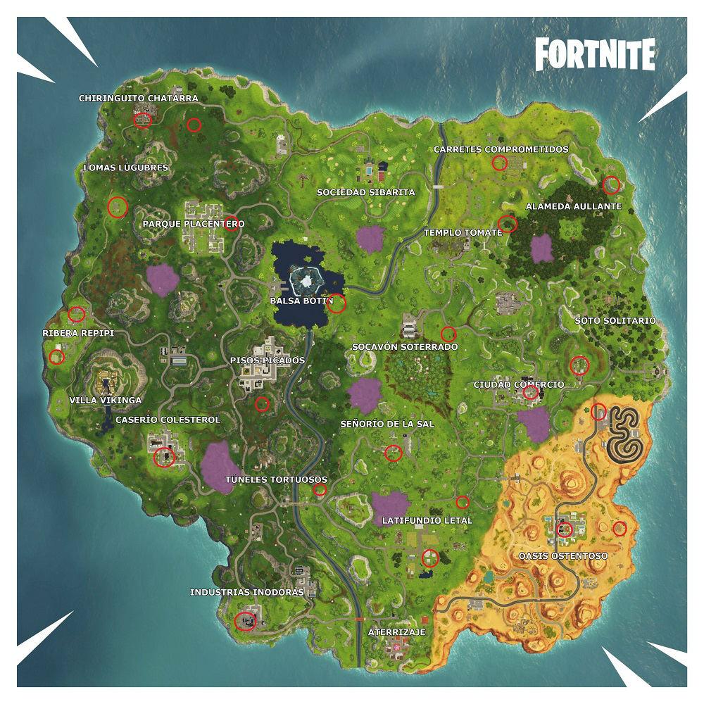 Fortnite Battle Royale - Mapa de Quadtaclismo