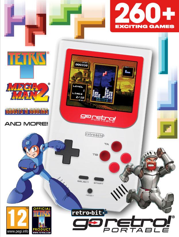 Así es GoRetro! Portable, una consola portátil con más de 260 juegos clásicos