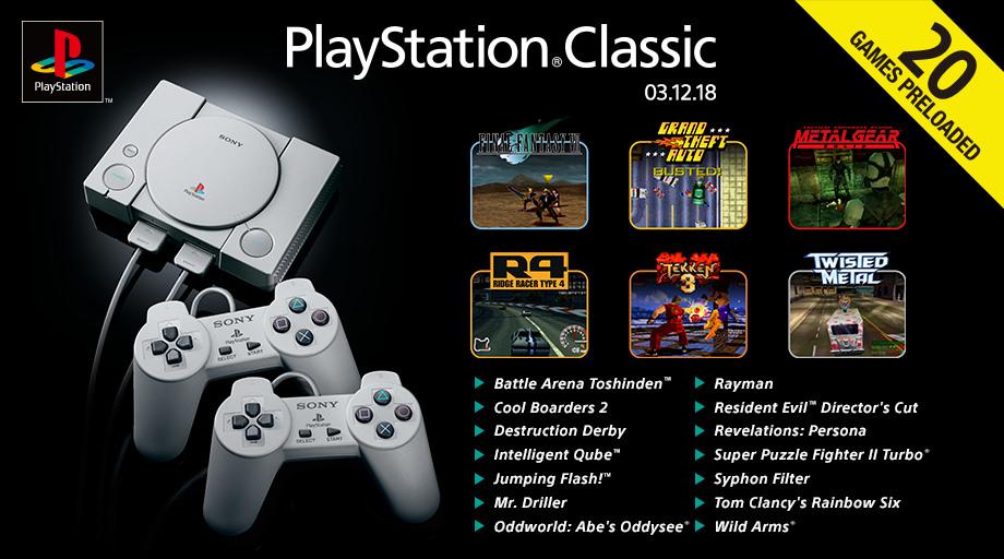 PlayStation Classic - Juegos