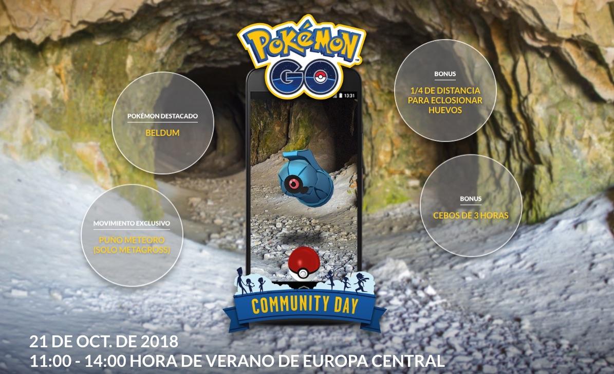 Pokemon Go dia de la comunidad octubre 2018