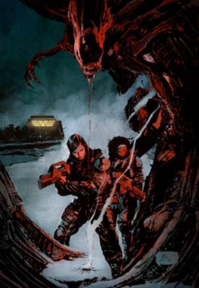 Portada del cómic Aliens: Resistance