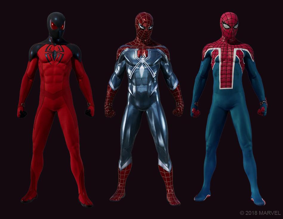 Primer DLC incluirá tres trajes nuevos — Marvel's Spider-Man