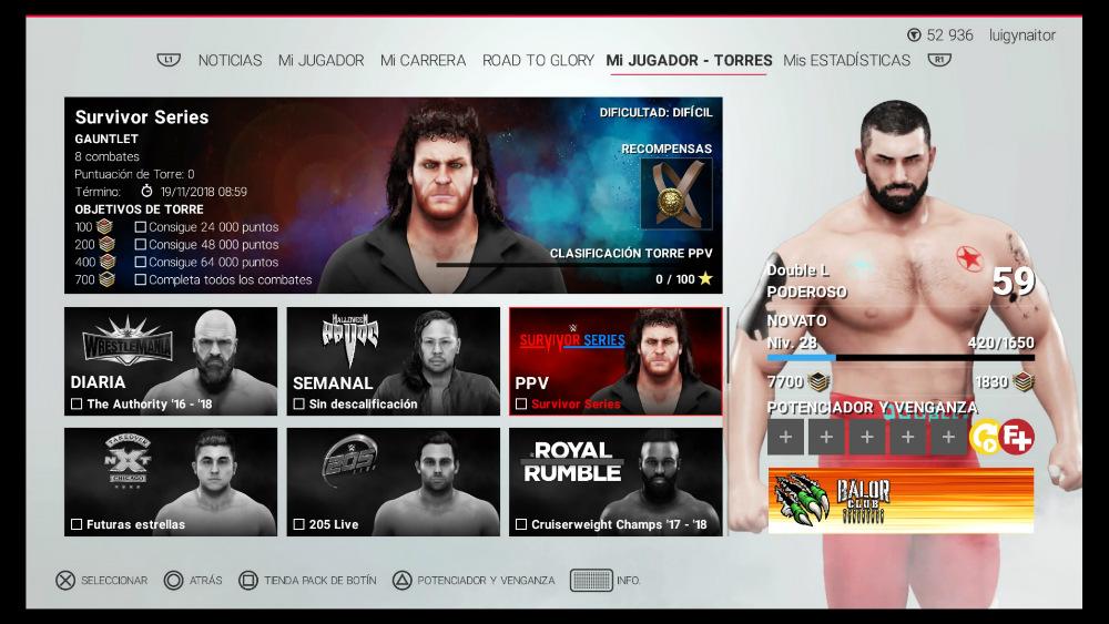 WWE 2K19 - Modo Torres