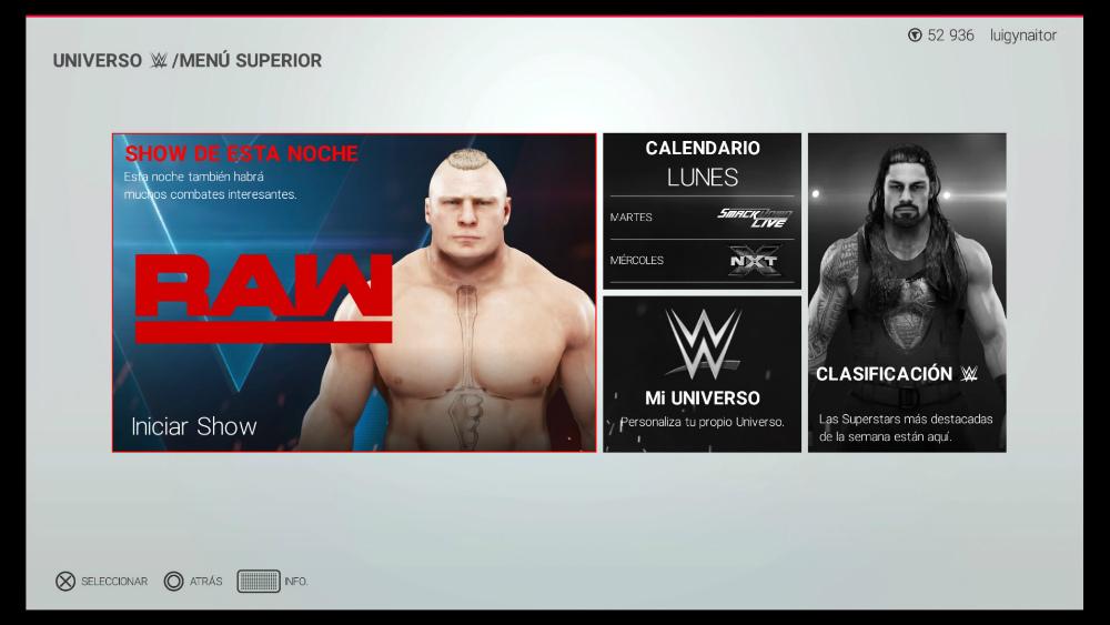 WWE 2K19 - Universo WWE