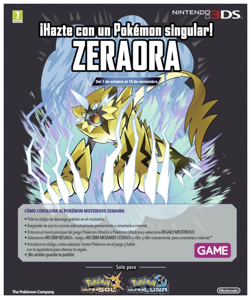 Consigue A Zeraora Para Pokemon Ultrasol Ultraluna En Game
