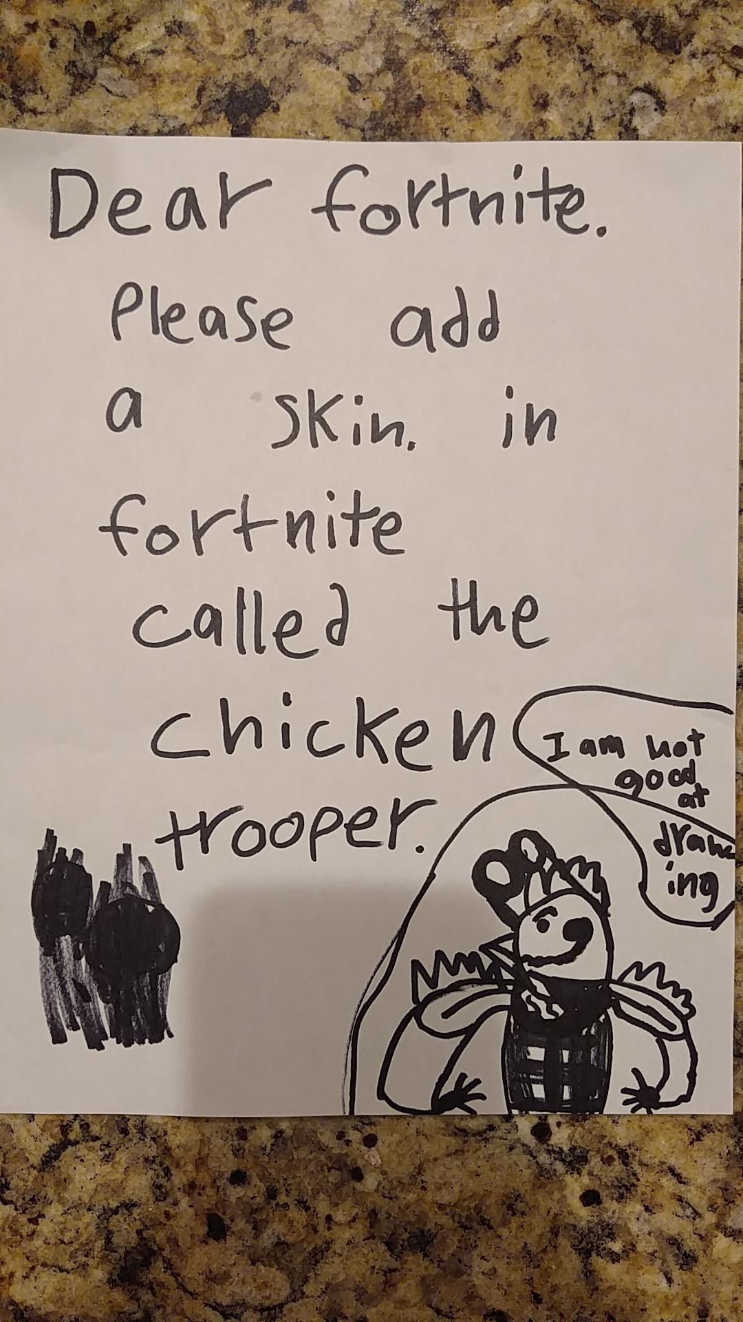 The Chicken Trooper Fortnite