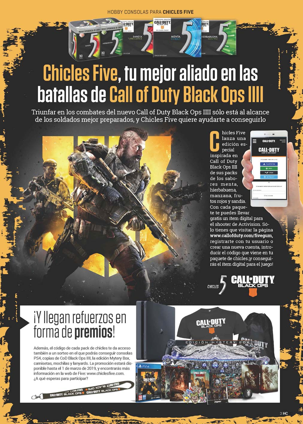 Hobby Consolas 328 chicles Five