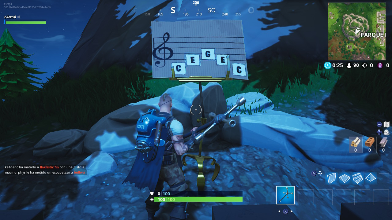 Partitura parque placentero fortnite