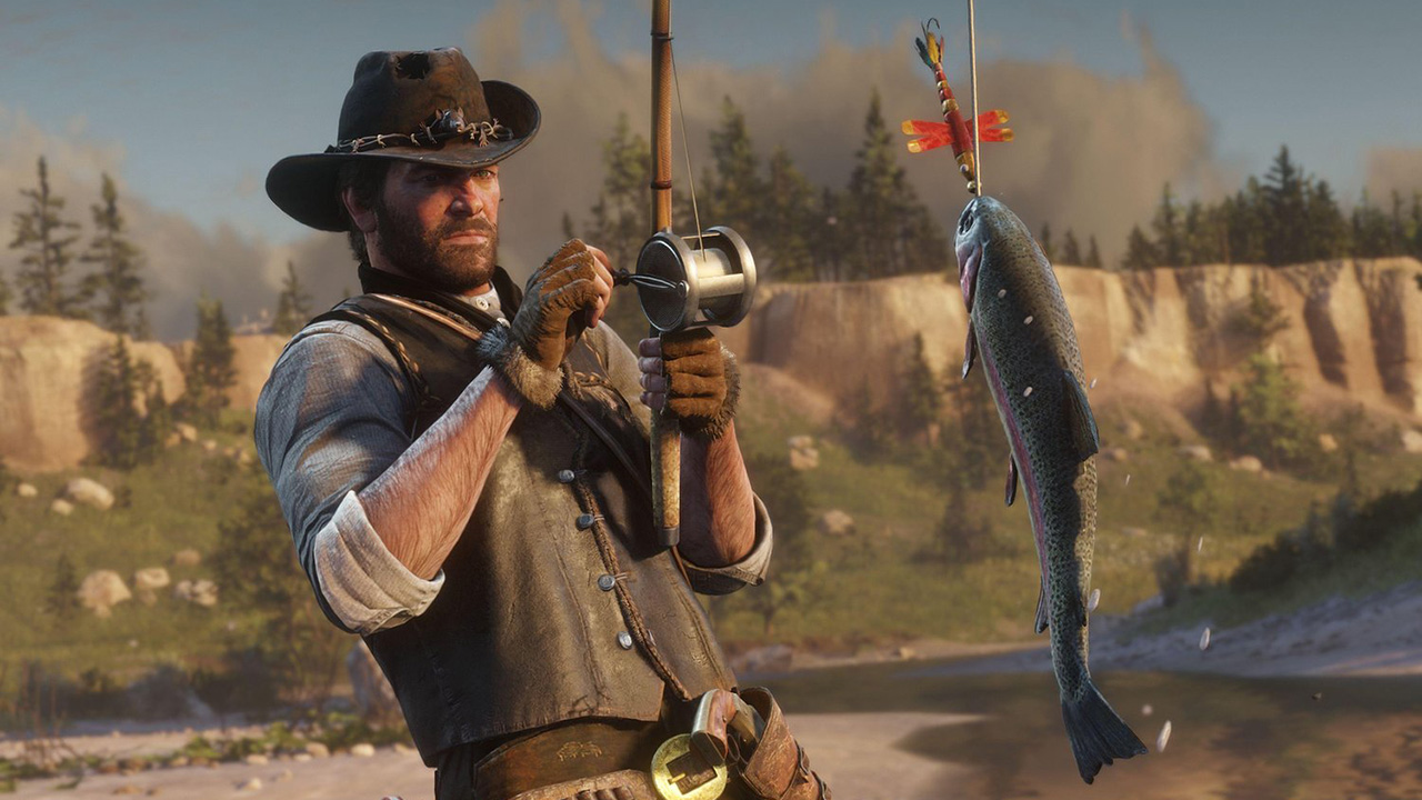 Pescar en Red Dead Redemption 2