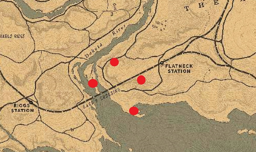 Red Dead Online - Mapa del tesoro deBard's Crossing