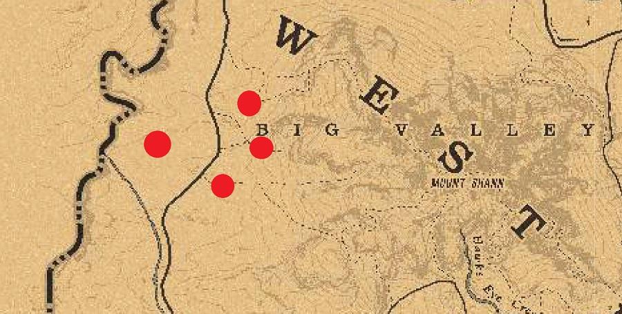Red Dead Online - Mapa del tesoro de Blackbone Forest
