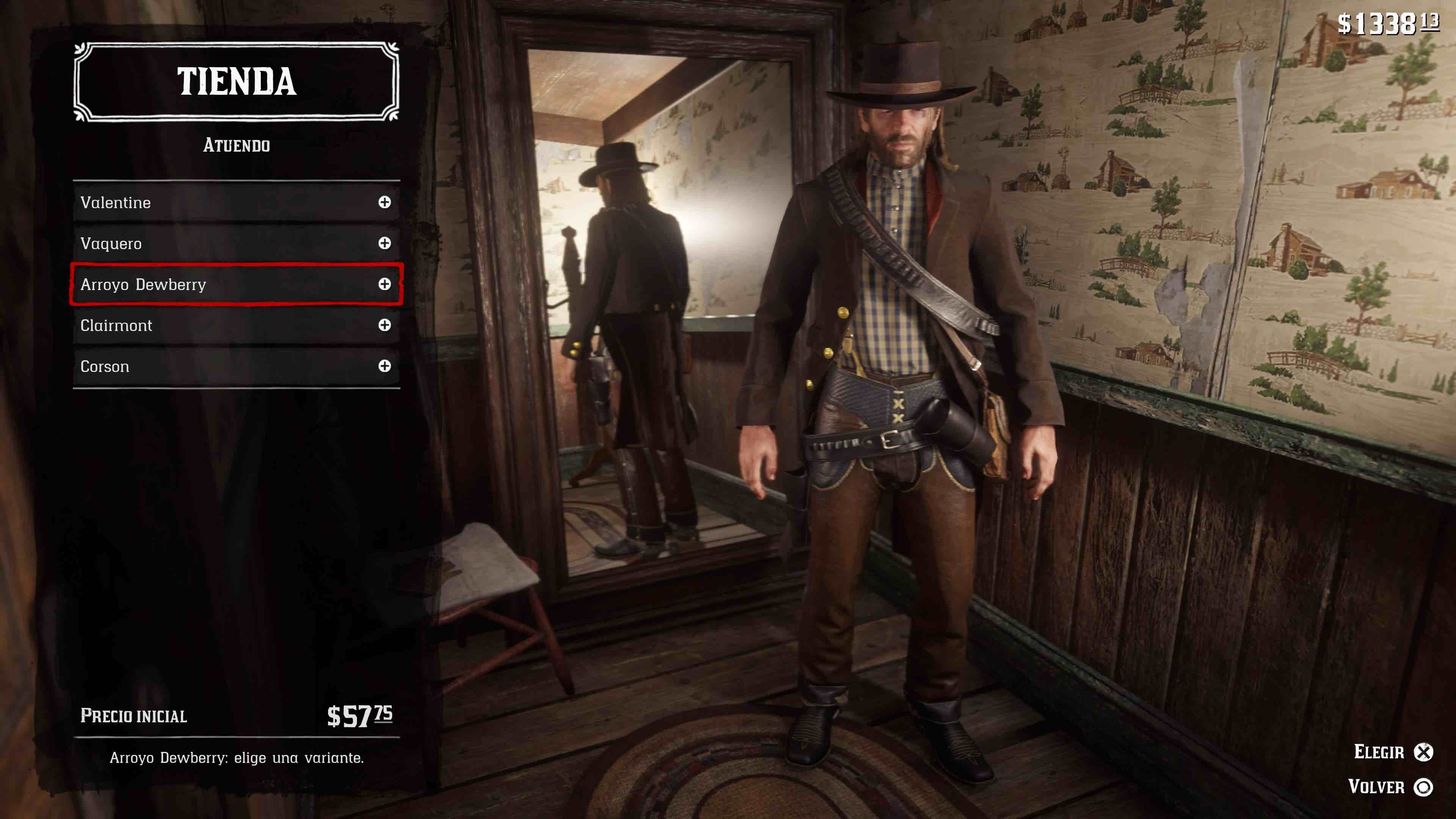 Red Dead Redemption 2 atuendos Valentine
