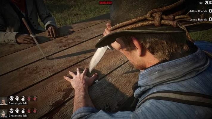 Red Dead Redemption 2 - Juego del cuchillo