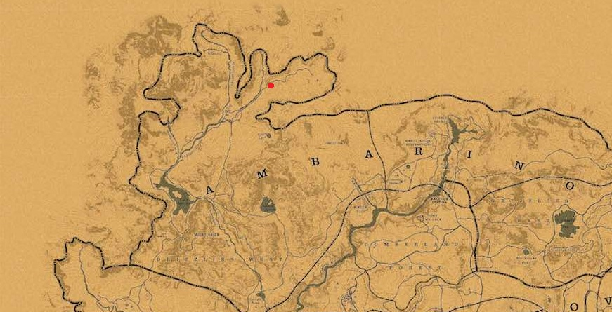 Red Dead Redemption 2 - Mapa panorámico