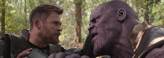 Vengadores Infnity War - Thor vs Thanos