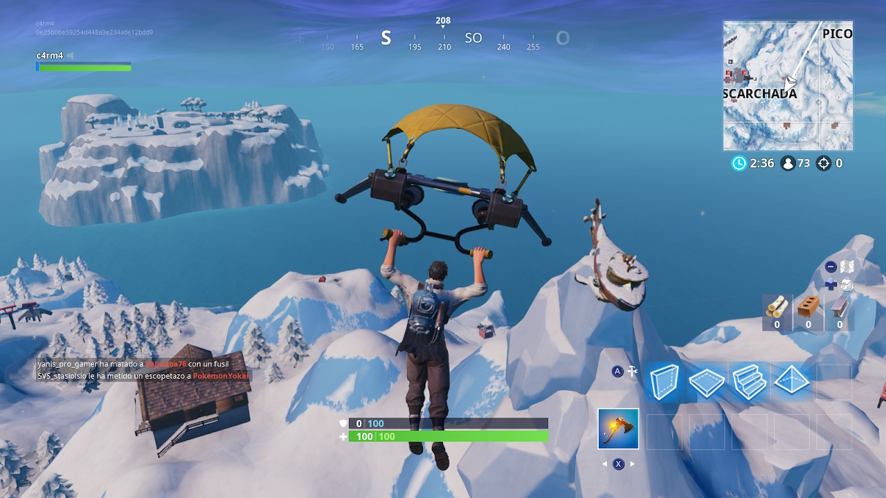 Dancing on the top of a sea boat at Fortnite