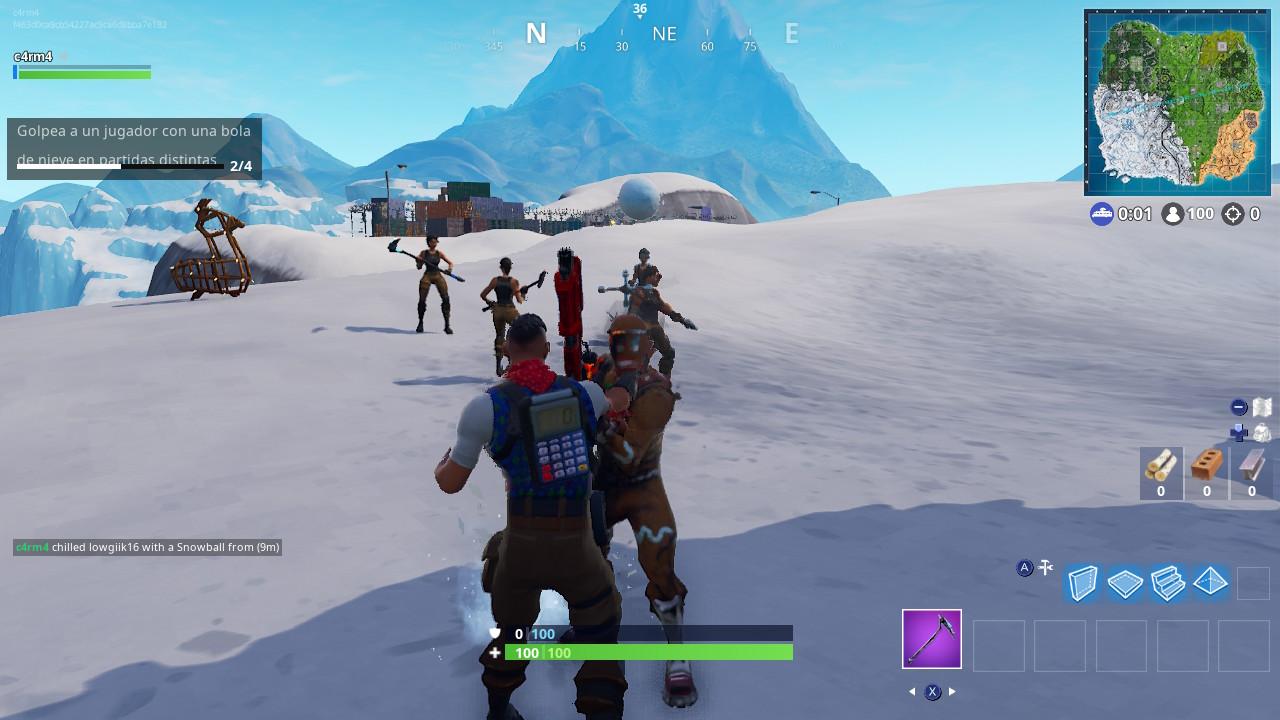 Bola de nieve Fortnite