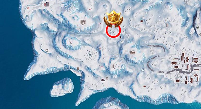 Busca entre tres alojamientos de ski Fortnite mapa