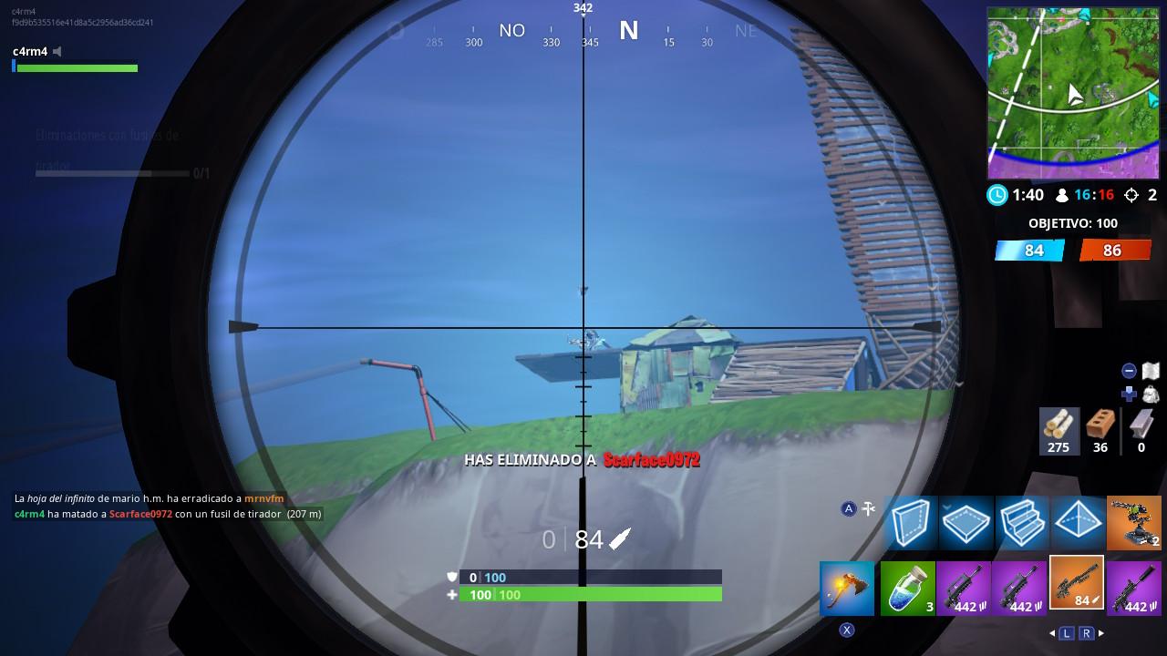 elimina a un enemigo desde al menos 50 m de distancia fortnite