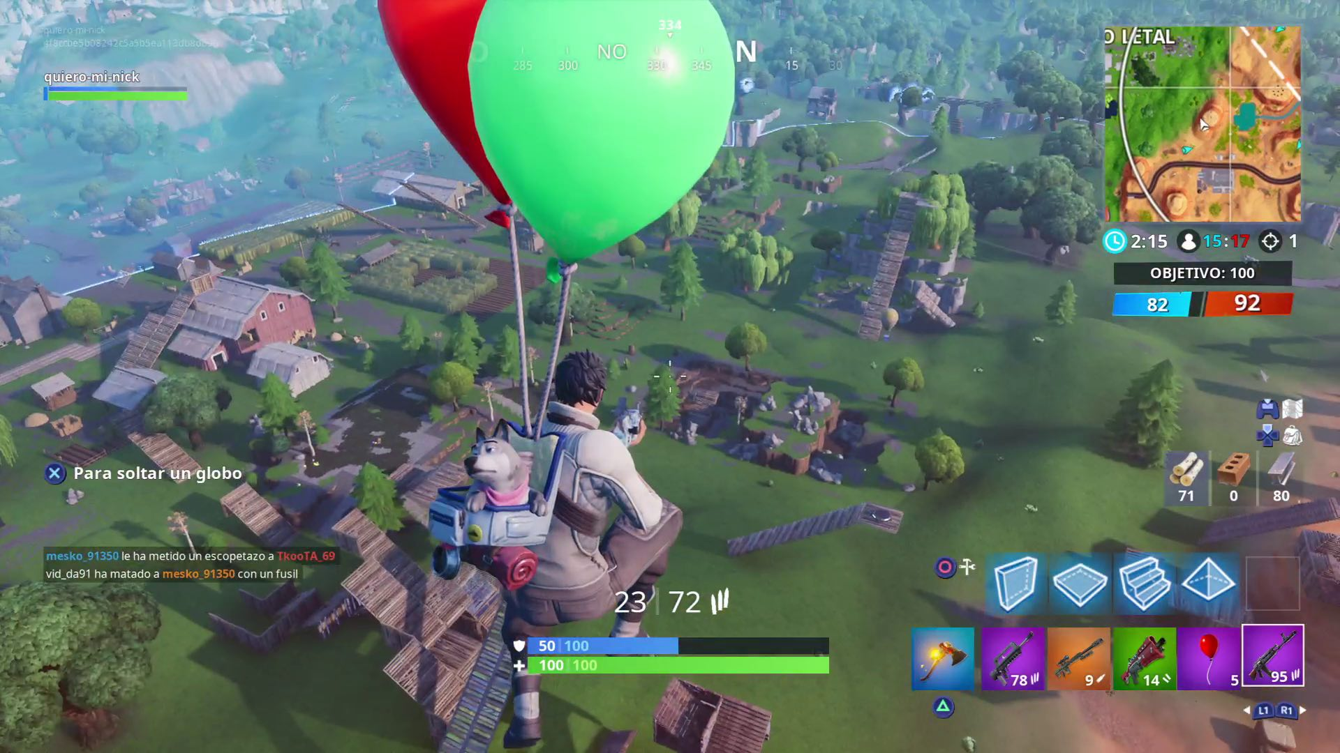 Fortnite globos