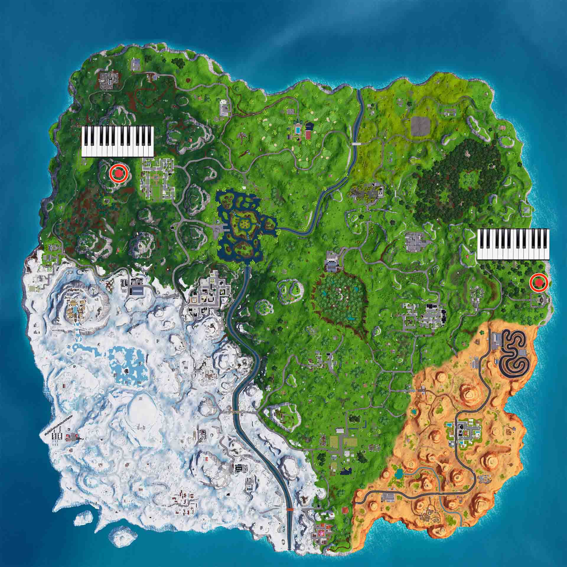 Fortnite Pianos Temporada 7