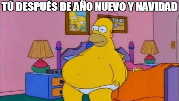 Meme New Year Homer Simpson