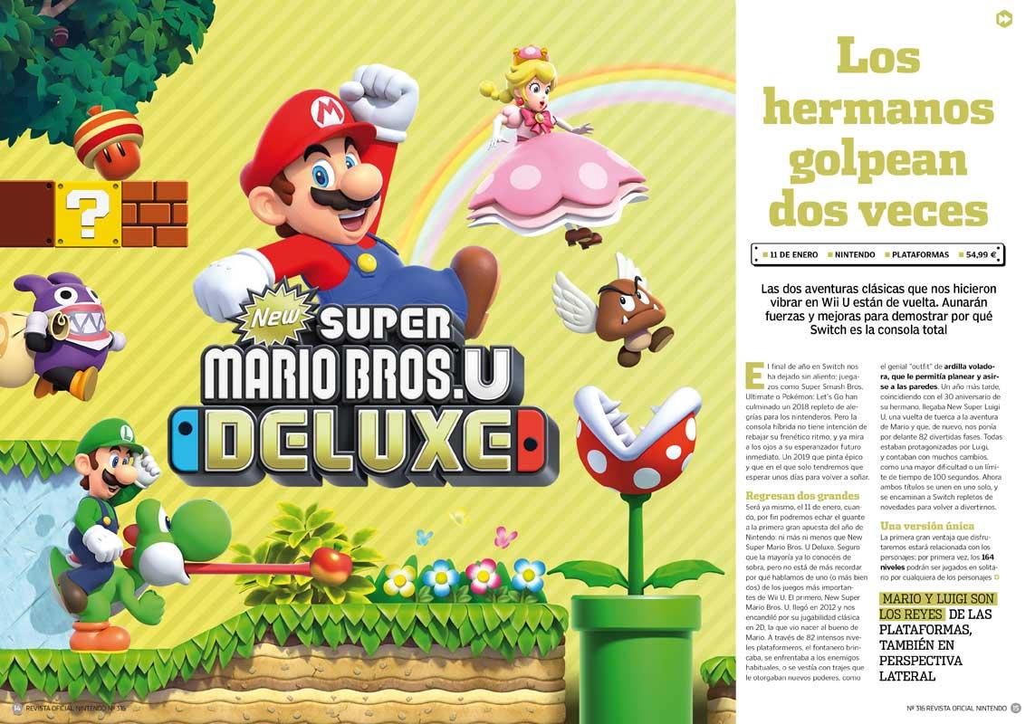 Revista Oficial Nintendo 316 A La Venta Con Calendario De 2019