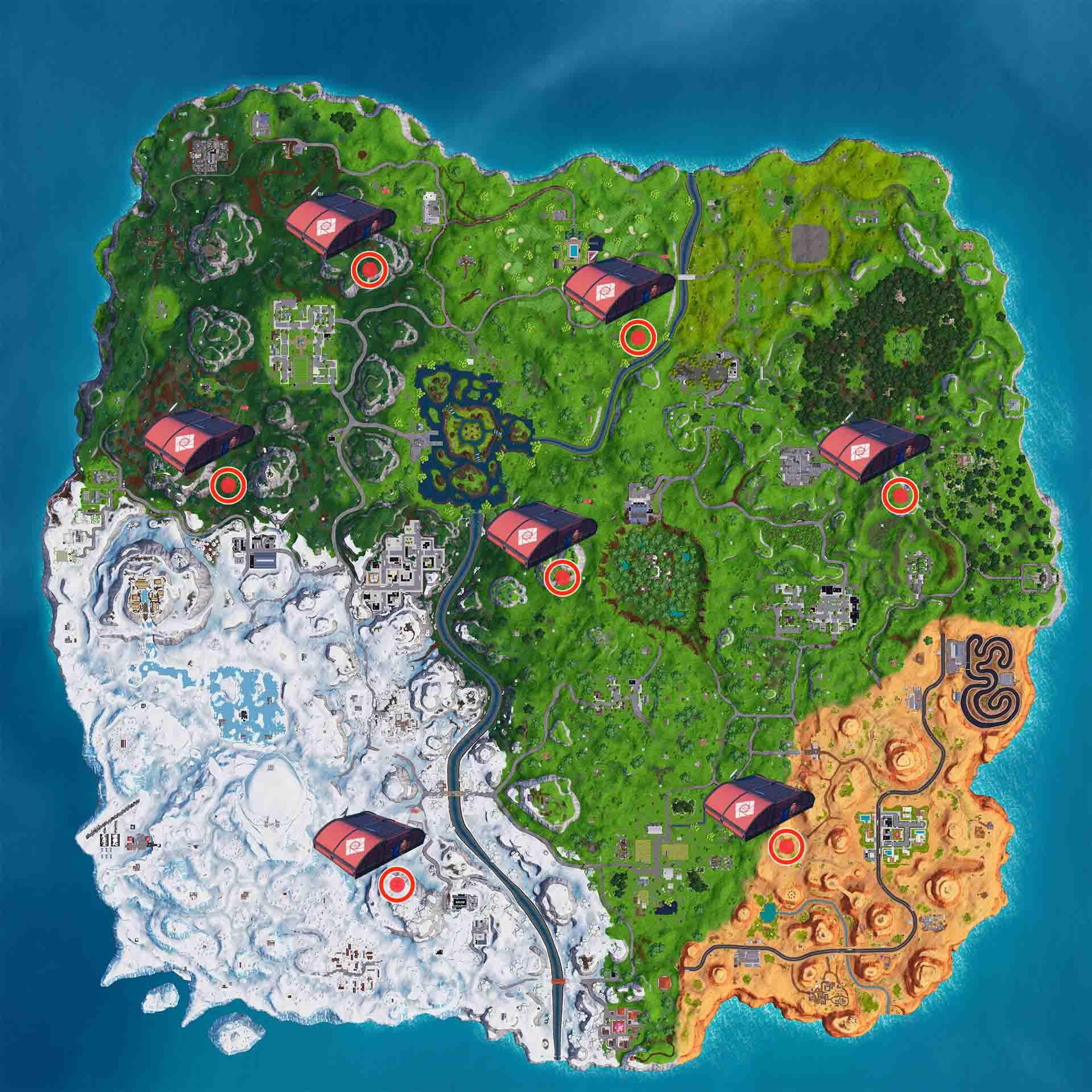 Puestos de avanzada de la expedición en Fortnite mapa