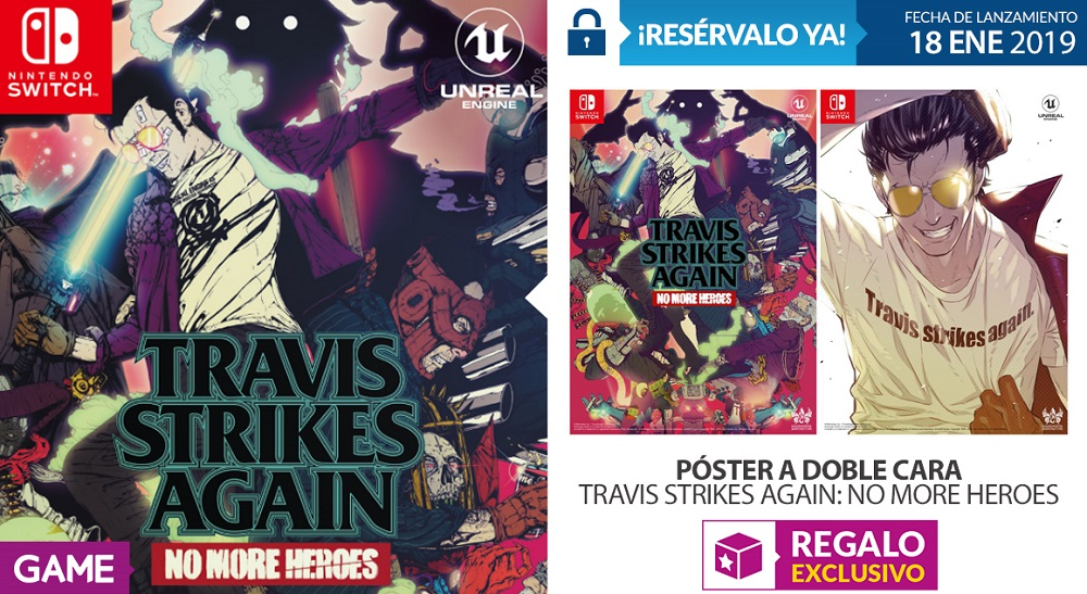 Travis Strikes Again No More Heroes en GAME