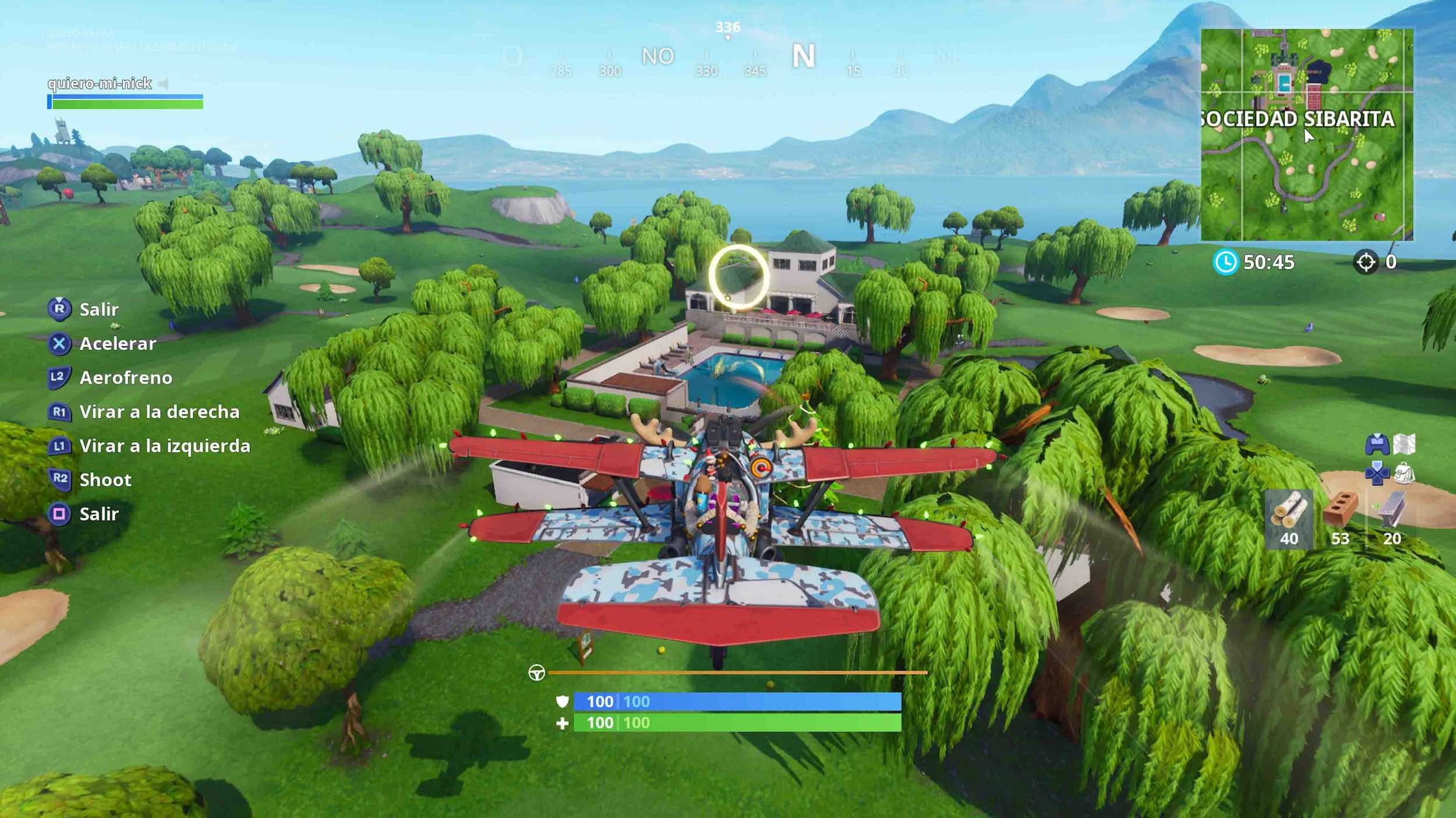 Take A Stormwind X 4 Plane Through The Golden Rings In Fortnite 14