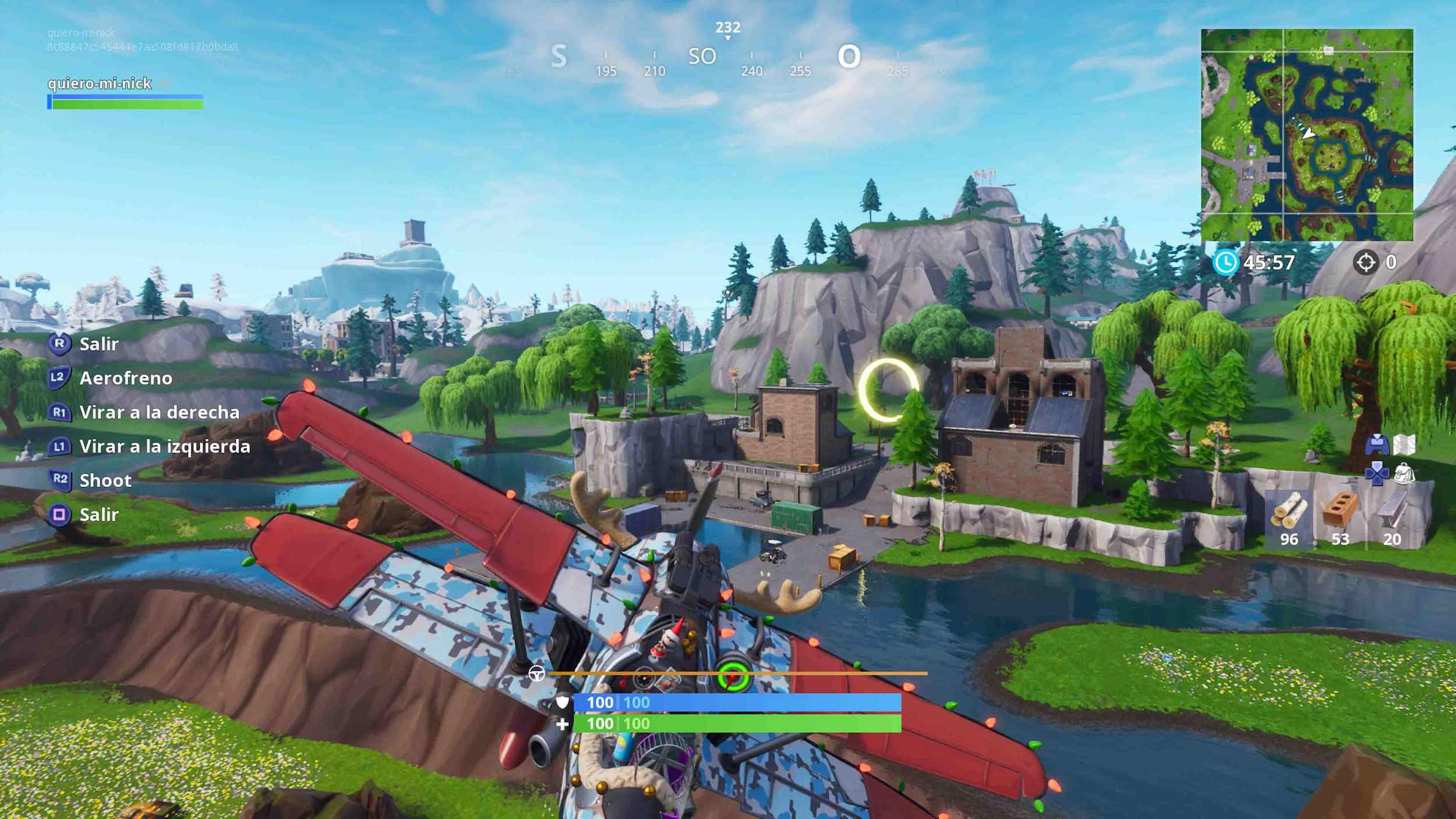 Fly through hoops in Fortnite 14 days from Fortnite