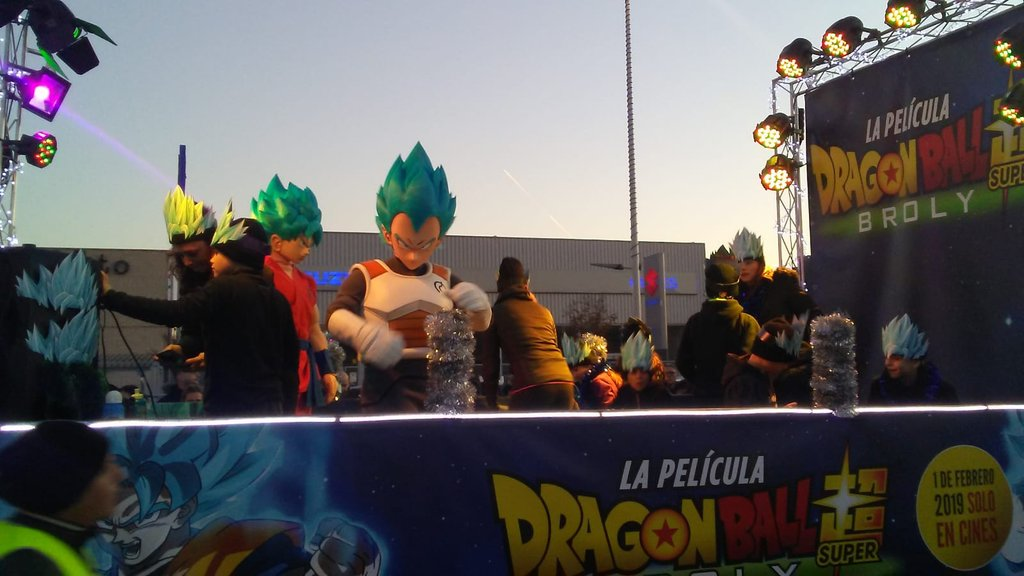 Dragon Ball Super Broly cabalgata Reyes Magos