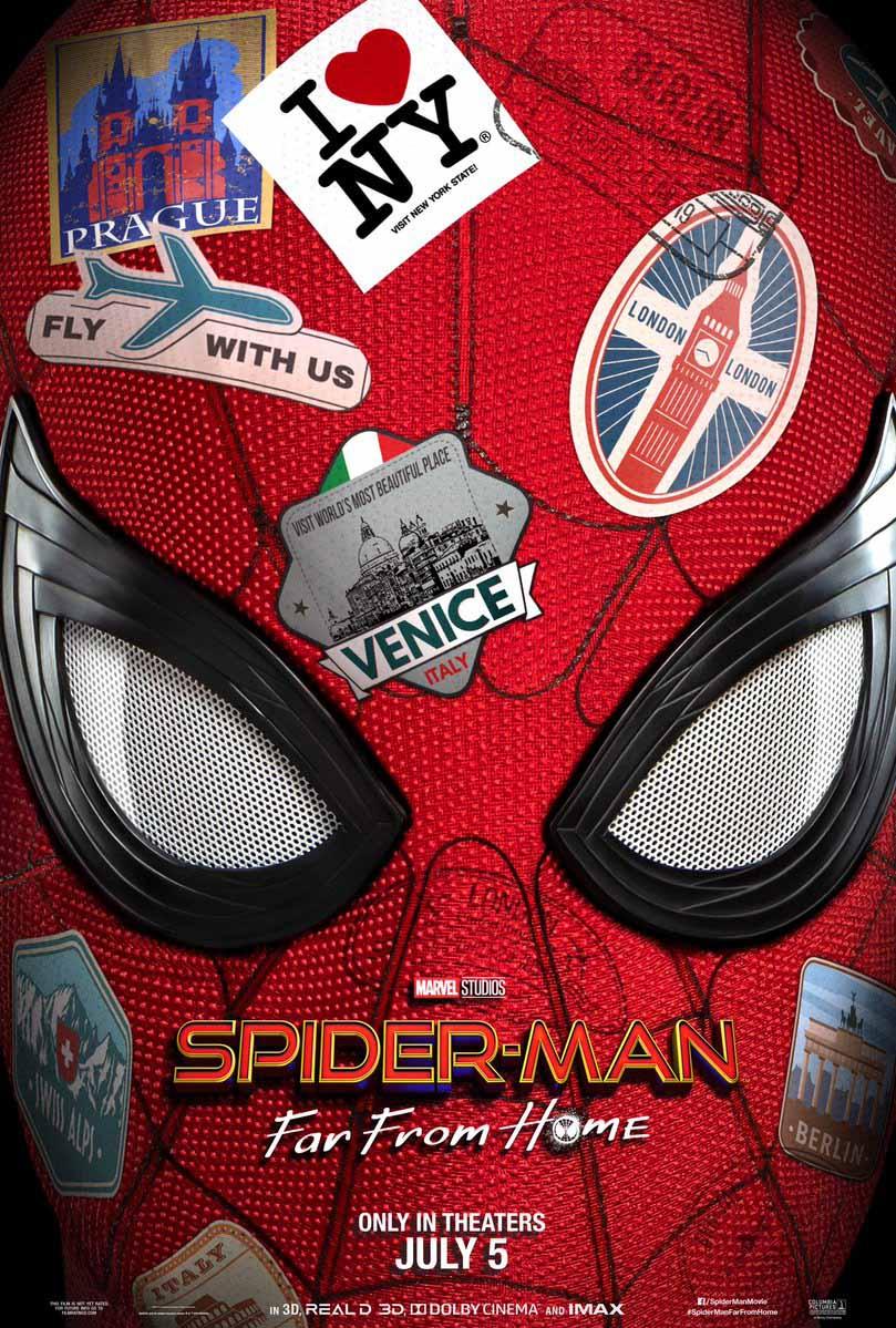 Spiderman lejos de casa poster