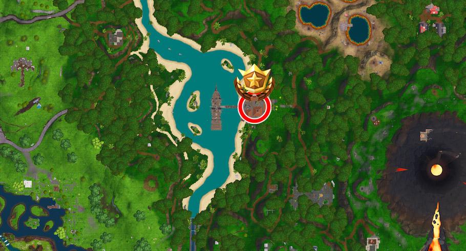 descubrimiento semana 1 fortnite mapa - estrella semana 2 fortnite