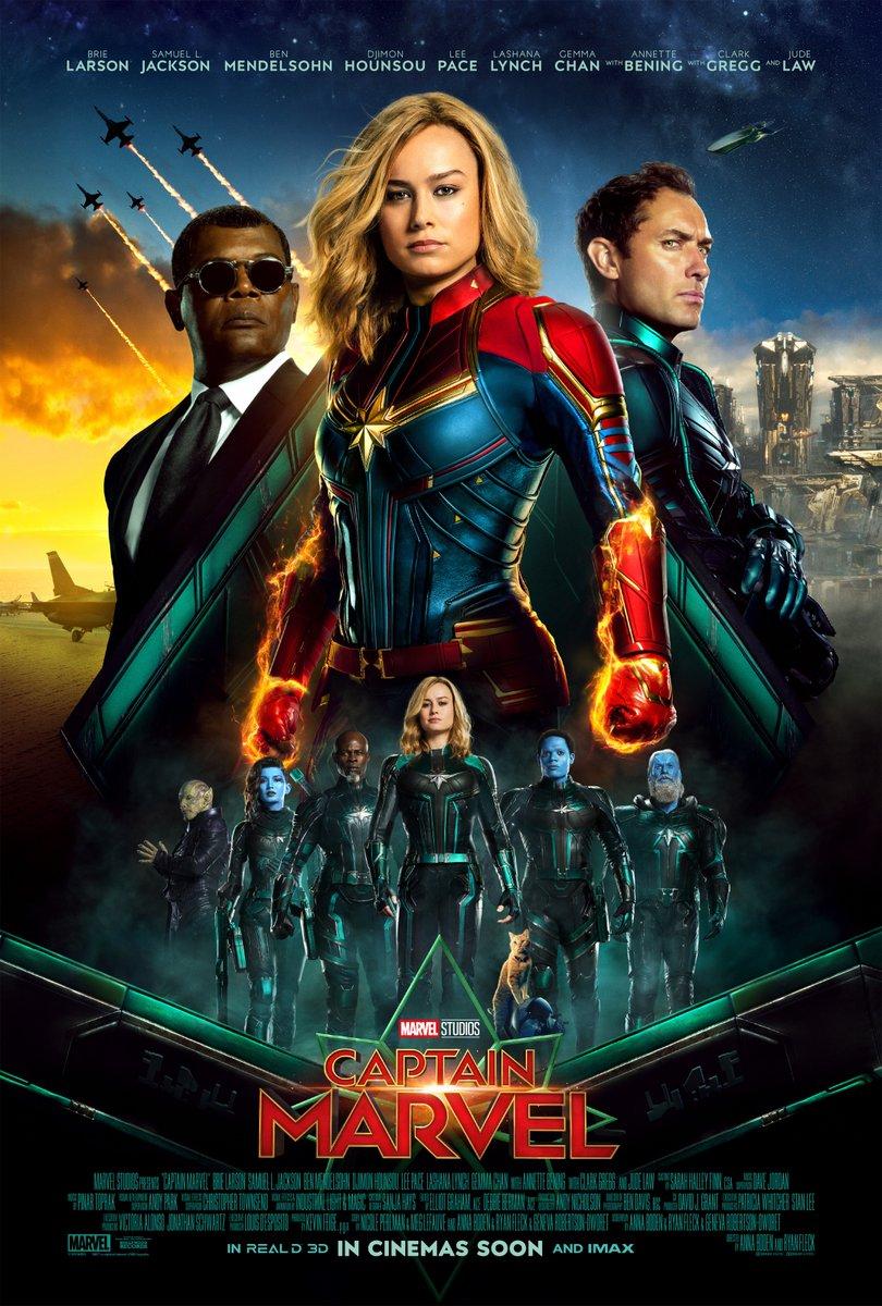 Capitana Marvel - Póster internacional