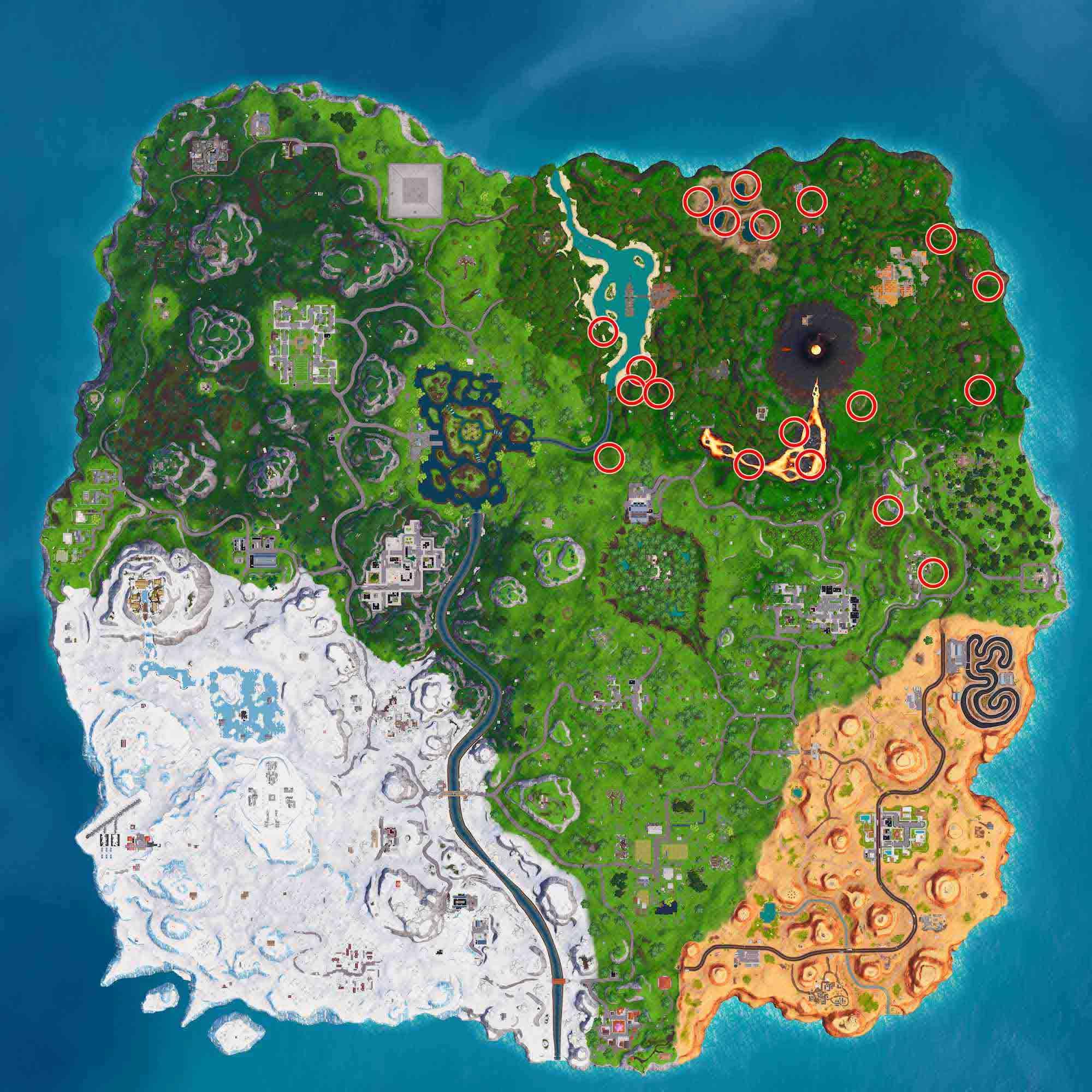 mapa respiraderos volcanicos Fortnite