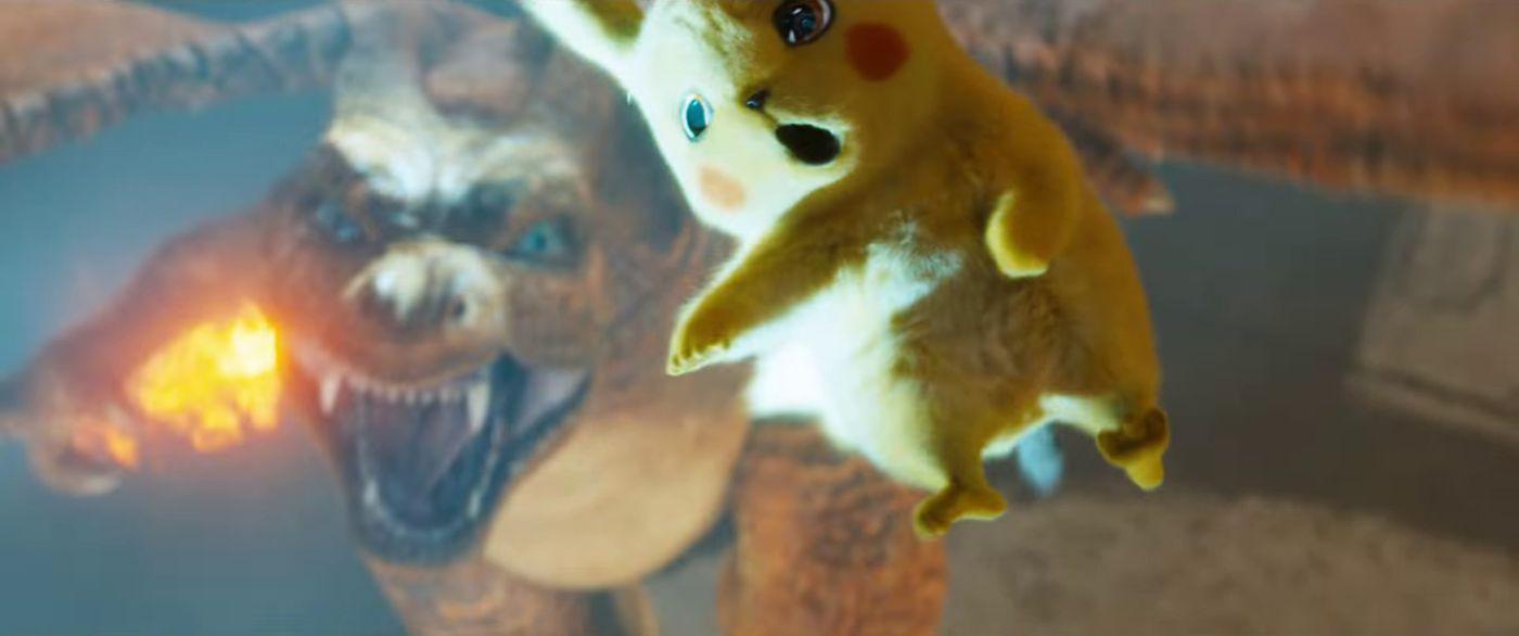 Pikachu y Charizard - Detective Pikachu