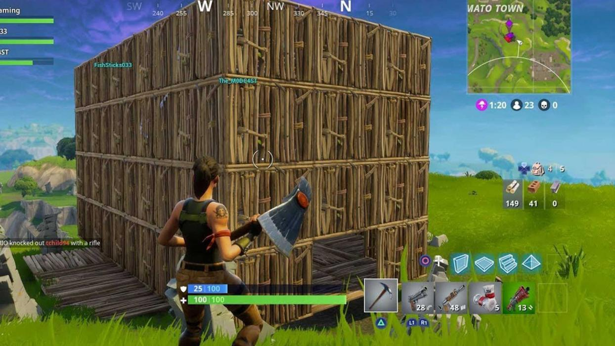 Errores construcción Fortnite