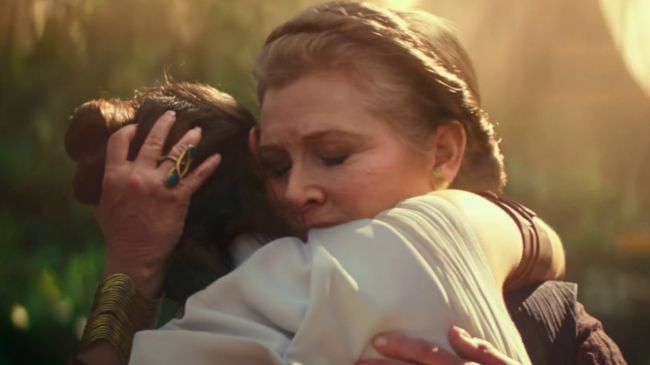 Carrie Fisher en el Episodio IX: The Rise of Skywalker