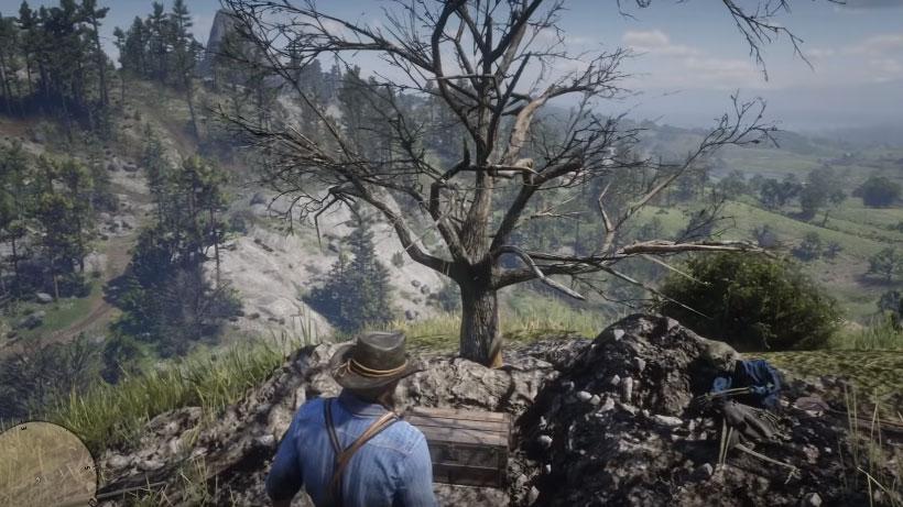 Cofres semienterrados Red Dead Redemption 2