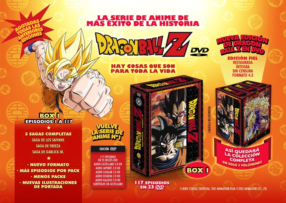 Dragon Ball Z Sagas Completas DVD