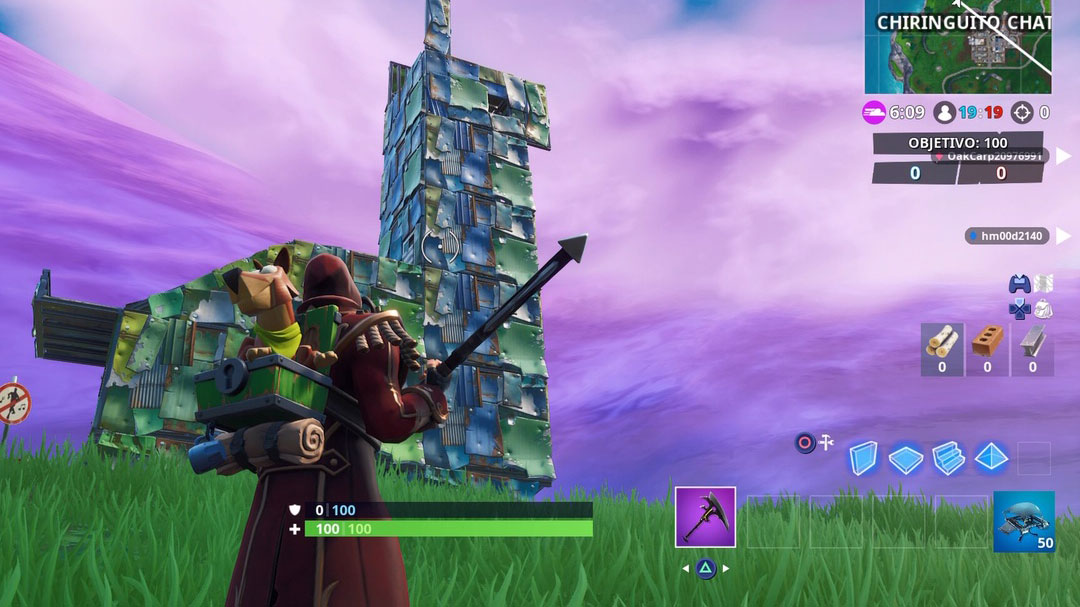 Fortnite desafío estructuras