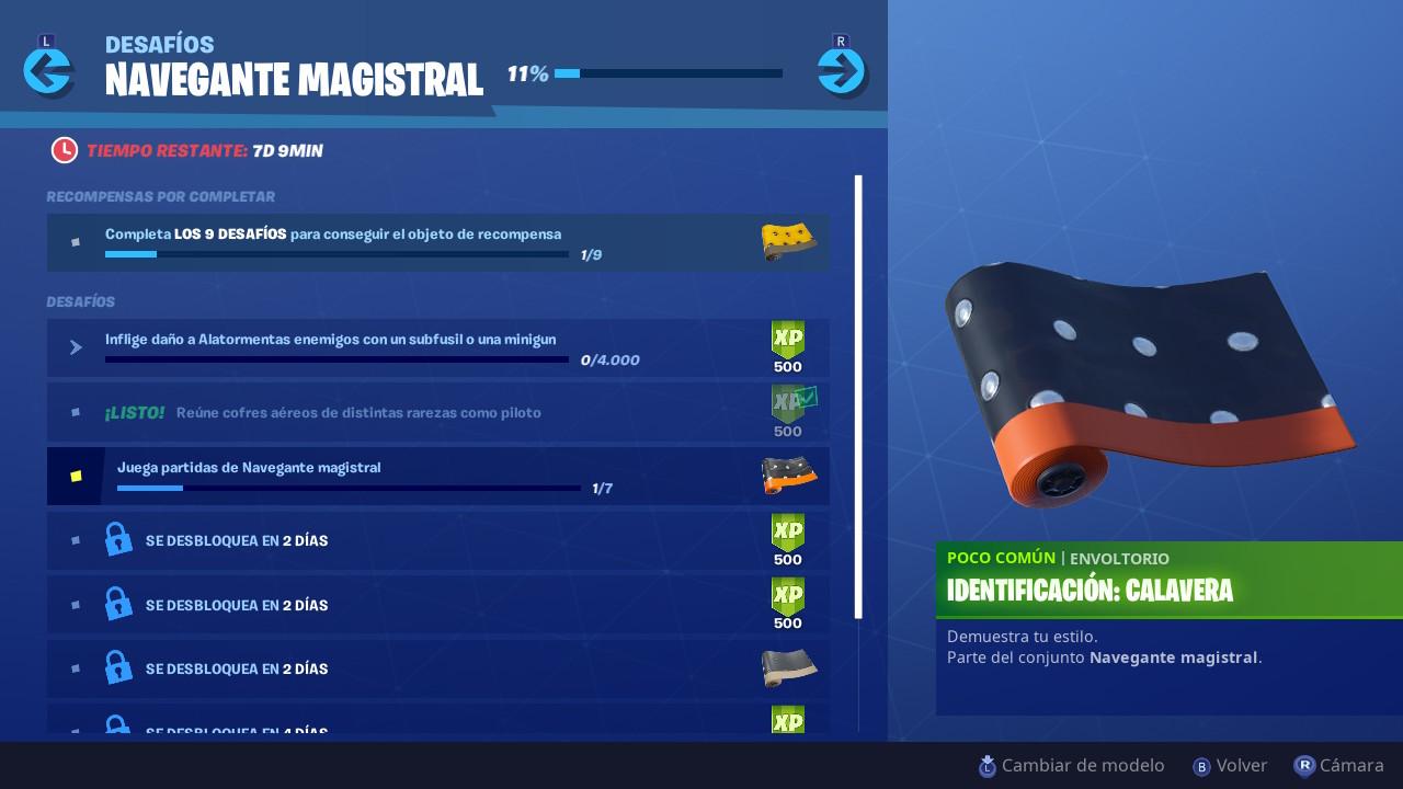 Desafios Navegante Magistral Fortnite 2
