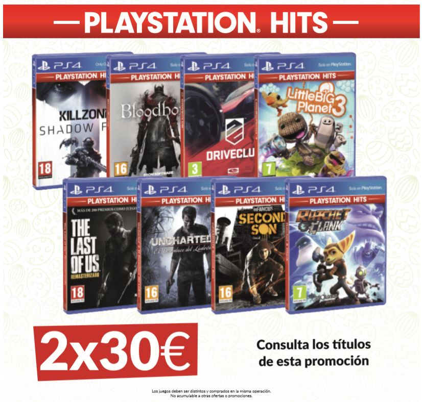 PlayStation Hits en GAME Oferta