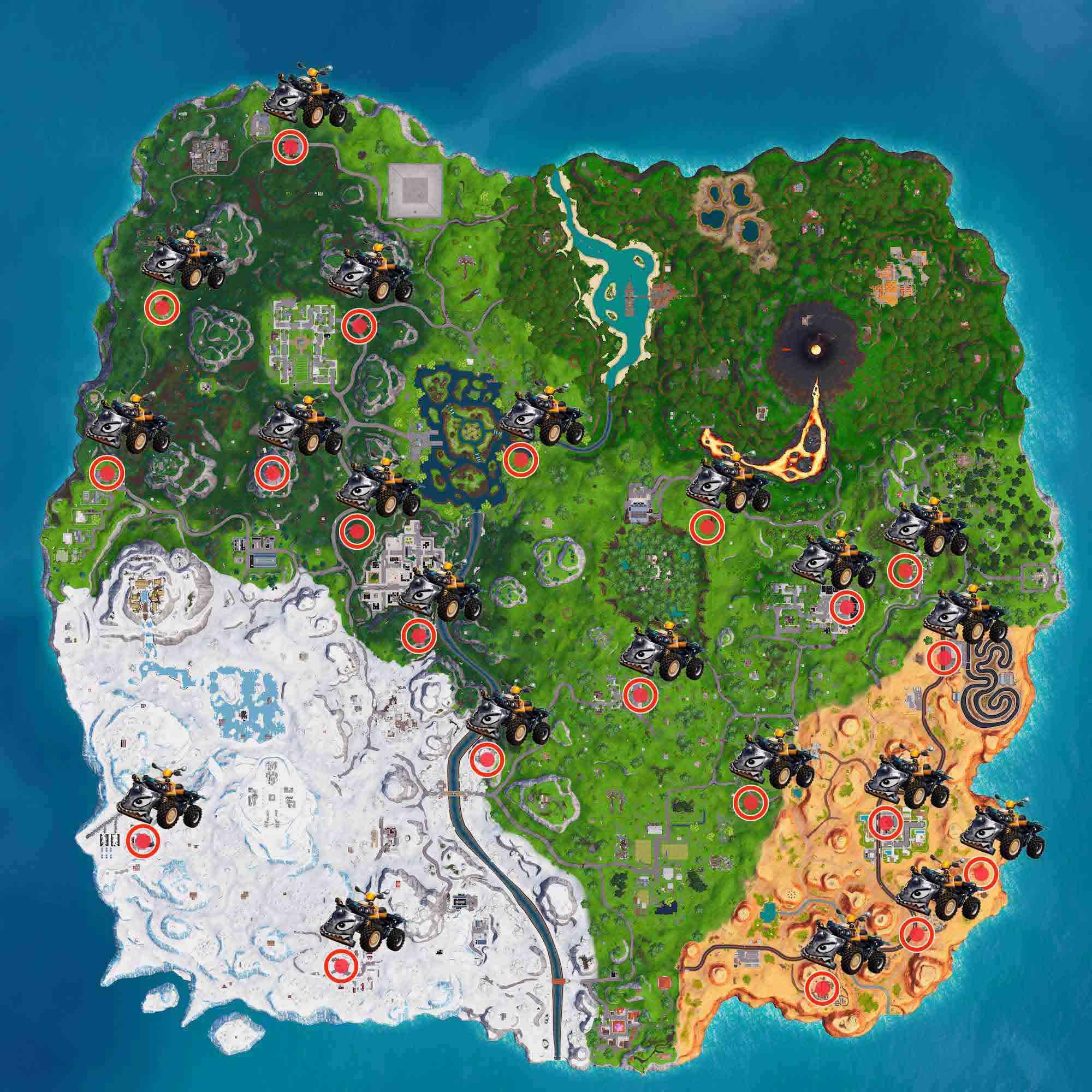 Quadtaclismo fortnite temporada 8 mapa