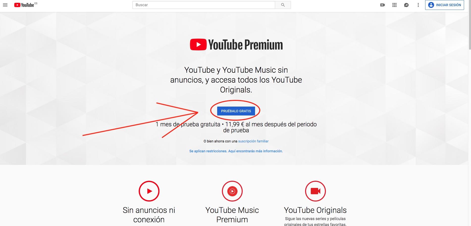 YouTube Premium mes gratis