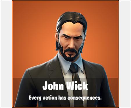 Skin de John Wick en Fortnite